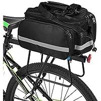Lixada Bolsa Trasera para Bicicleta Multifuncional Bolsa de Asiento Trasero Bolsa de Hombro para Ciclismo al Aire Libre 25L Negro