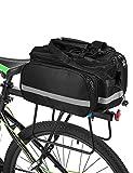 Lixada 13L Fahrradtaschen Gepäckträger Wasserdicht Sitz Multifunktionale Tasche MTB Rennrad Rack Carrier (Schwarz Typ2)