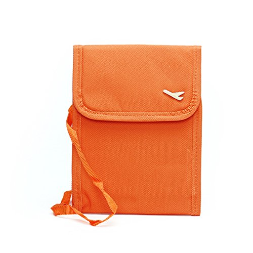 Mieoson Honana HN-PB1 Multifunktions Passport Bag Anmeldeinformationen Travel Holder Tickets Karten Organizer by (Farbe : Orange)