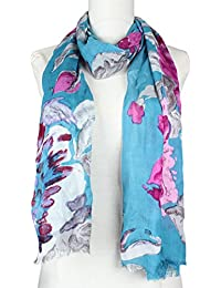 Vozaf Women's Viscose Shawls - Blue