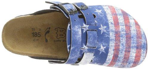 Birki  KAY BF DD, sabots et mules mixte enfant Bleu - Blau (FLAG STARS & STRIPES)