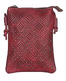 malito Damen Umhängetasche   kleiner Brustbeutel   Schultertasche mit Muster   Hüfttasche - Tasche T2460 (bordeaux-2)