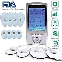Electroestimulador Muscular, Masajeador Electrico Tens Ems Electrodos Estimulador de Acupuntura Para la Terapia Física Masajeador para Tratar Espalda/cuello/hombros/estrés en Piernas y Dolor Ciático