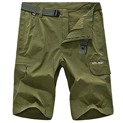 RLJJCS Modetrend Wilden Sommer im Freien lässig schnell trocknende Hosen Männer Gore-Tex Sommersport atmungsaktive Shorts fünf Hosen Kurze Hose (Color : Army Green, Size : XL) -