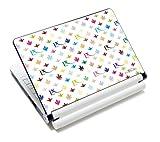 Luxburg® Design Aufkleber Schutzfolie Skin Sticker für Notebook Laptop 10 / 12 / 13 / 14 / 15 Zoll, Motiv: LX Muster weiß