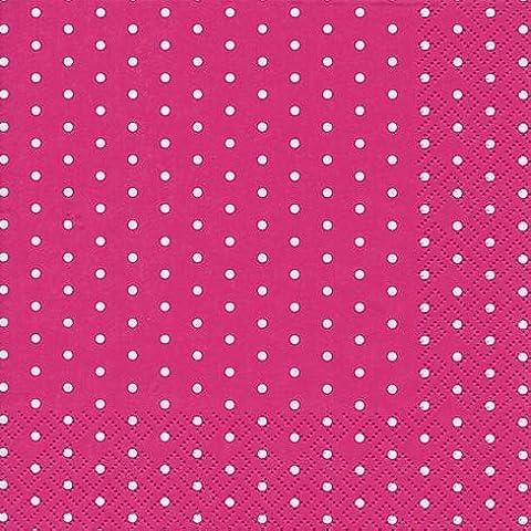 60 Tovaglioli Mini Dots berry 25 x 25 cm 3-strati di carta, Cocktail Tovaglioli