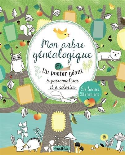Mon arbre généalogique : Un poster géant à personnaliser et à colorier