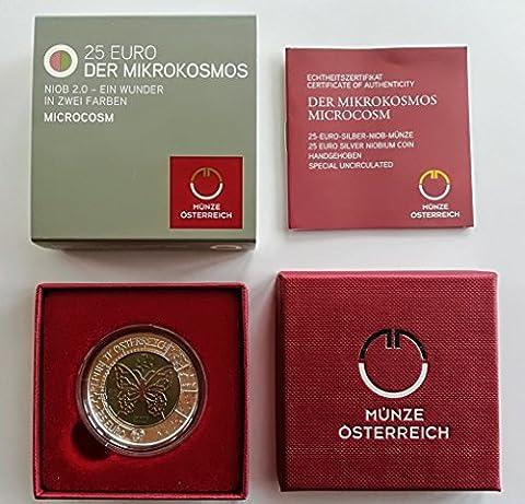 Silber Niob Münze Mikrokosmos Österreich 2017