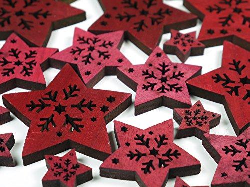 khevga decoración de mesa para mesa de Navidad Estrella Roja width=
