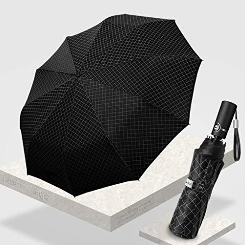 Haushaltsschirm Business Faltbarer Regenschirm Auto Auto-Aufbewahrungsschirm Doppel verstärkter winddichter Regenschirm Zwei Ausführungen erhältlich WXFO (Farbe : B) -