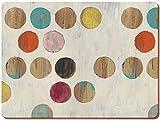 Creative Tops Retro Spot-Tovagliette all'americana in sughero naturale e legno, colore: multicolore, 6 pezzi