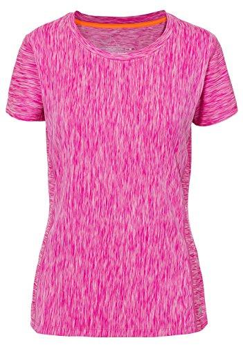 Trespass Damen daffney Quick Dry T-Shirt mit Reflektierende Details Pink Glow Marl