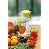 SELL ON Green Fruit & Vegetable Manual Juicer Mixer Grinder With Steel Handle Polypropylene Hand Juicer-Green