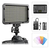 Luz LED de video ,luz ultra brillante regulable de ESDDI 176 LED Panel para Canon, Nikon, Pentax, Panasonic, Sony, Samsung, Olympus y otras cámaras SLR / videocámaras digitales