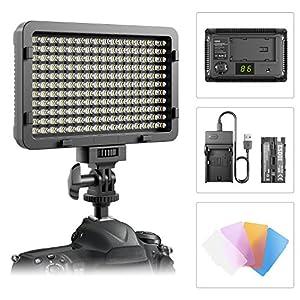 Luce LED Video ESDDI 176 LED ultra luminoso dimmerabile, pannello luminoso per Canon, Nikon, Pentax, Panasonic, Sony, Samsung, Olympus e altre fotocamere/videocamere SLR digitali