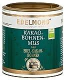 Edelmond Bio Kakaobohnen Mus cremig zum backen mit Schokolade. Vegane dunkele Kuvertüre ohne Zucker. Toll für Kekse oder Muffins. (250g)