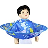 MAFENT Kind Haar Schneiden Umhang Regenschirm Cape Salon Barber Friseurumhang Familie für Erwachsene (Blau Dolphin)
