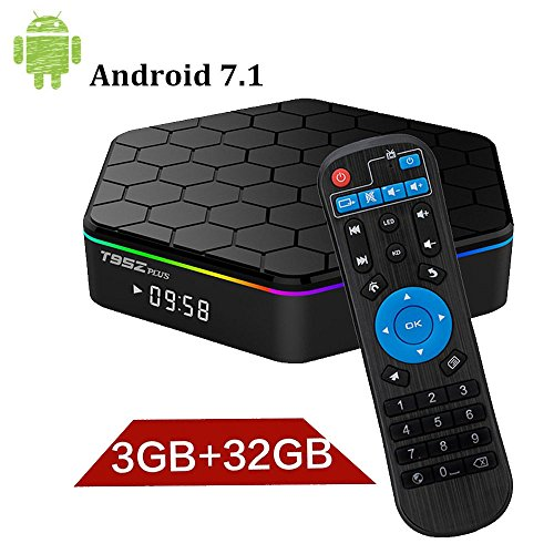 T95Z Plus Android 7.1 TV Box with 3 G RAM 32 G ROM Octa-Core 64 Bits Media Player Support 4 K Resolution 2.4 G/5G Dual WIFI 1000 m Lan BT 4.