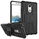 WindCase Lenovo K6 Note Hülle, Outdoor Dual Layer Holster Armor Tasche Heavy Duty Defender Schutzhülle mit Ständer Case für Lenovo K6 Note Schwarz