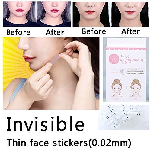 c92329bdc9a9 Face Lifting Patch Thin Face Stickers Invisible Artifact Sticker Lift Chin  V-Shape Face Adhesive Tape Make-up Face Lift Tools 40PCS/Box Balai
