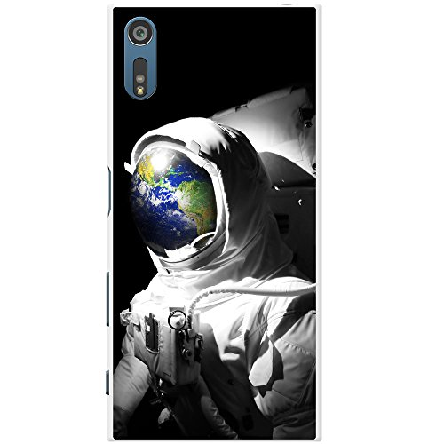 Astronautenanzug & Spiegelbild der Erde Hartschalenhülle Telefonhülle zum Aufstecken für Sony Xperia XZ