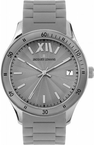 Jacques Lemans Rome Sports 1-1622U Unisex Grey Silicone Strap Watch