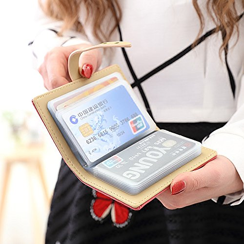 Woolala Anti-Demagnetizzating Cards Holder 20 Card Inserti Piccolo Portafogli Pu Pelle Coulisse Borsa, Grigio Grey