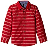 United Colors of Benetton Baby Boys' Shirt (15A53H45Q383I901_Chilli Pepper Red and Stripe_0Y)
