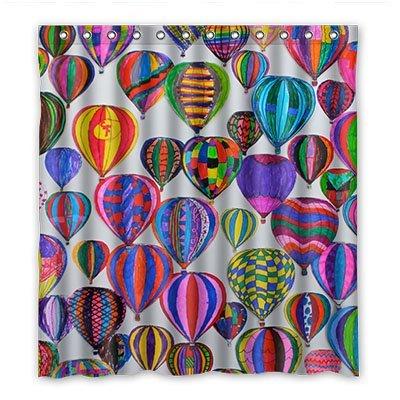 dalliy Custom Heißluftballon Duschvorhang Polyester 167cm x 183cm, Polyester, B, 168 x 183 cm (Stars Wars Duschvorhang)