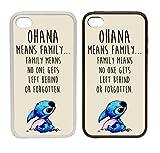WTF | Ohana Signifie Famille–Beige | à clipser téléphone Coque) |, plastique, blanc, iPhone 4/4s