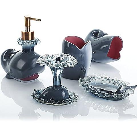 BBSLT Dolphin baño baño conjunto de cinco Departamento de Marina de innovación creativa nuevos regalos de boda