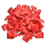 MAXGOODS 100 Pezzi Raso a Forma Di Cuore Tessuto Petali Di Artificiali Decorazione Della Festa Nuziale Confetti Compleanno Tavola Cuore Coriandoli Per Le Occasioni Festive - Rosso 2.1cm