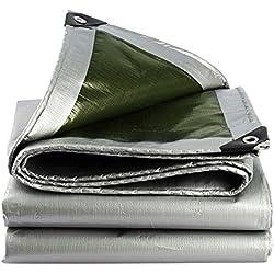 Lona impermeable de doble cara, tapete para picnic Cubierta de asiento al aire libre Tela resistente a las lágrimas Tela impermeable Linóleo antiestático (plata + verde) (Tamaño : 1.5x2m)