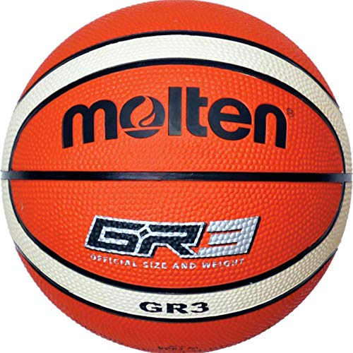 molten Basketball, Orange/Ivory, 3