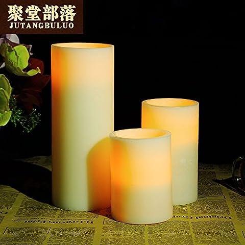 Boda romántica a la luz de las velas de parafina electrónica velas LED LED luz-bar está decorado