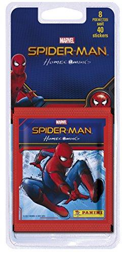 Panini Spiderman 6 Movie-Home Coming Blister 8 Pochettes, 2316-038, Non
