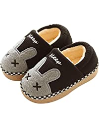 be24ae76e48 KuaiLu Cute Bunny Slide Slippers Booties Shoes Fluffy Foam Anti Slip for  Boys Girls Little