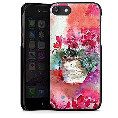Apple iPhone X Silikon Hülle Case Schutzhülle Gemälde Rosen Blumen Hard Case schwarz