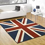Union Jack Rug - Red Blue & Cream - Ideal For Bedrooms - Weddings - Childrens Kid Rooms - 80 x 150cm