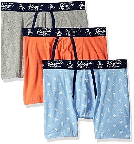 Original Penguin Men's 3 Boxer Brief, Blue Bell Pack, Medium