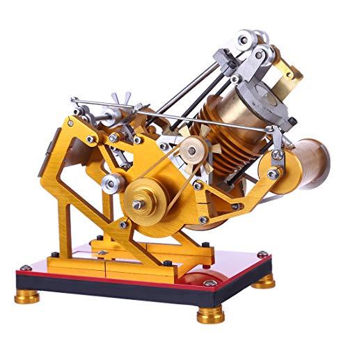 TETAKE Stirlingmotor Bausatz Metall Messing Sterling Motoren Stirling Engine Dampfmaschine Pädagogisches Spielzeug Geschenk für Kinder Erwachsene Technikinteressierte Bastler