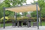 Angel Living® 3X4M Pavilion Terssendacht Anthracite aus Aluminium und Polyester Verstellbares Dach
