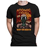 PAPAYANA - Atomic-WAR - Herren T-Shirt - RADIOAKTIVE Fallout Cold WAR UDSSR USA, XXL, Schwarz