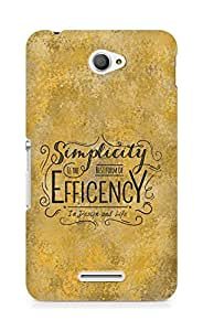 Amez Simplicity is the best form of Efficency Back Cover For Sony Xperia E4