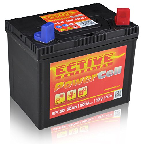 ECTIVE EPC53030 Rasentraktor Batterie 30Ah (DIN 53030) PowerCell SMF