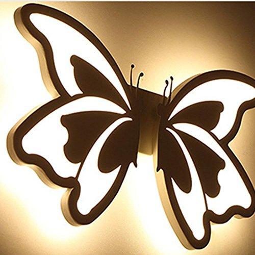Forma YAYONG lampada da parete LED acrilico Soggiorno Corridoio Corridoio Lampada farfalla , warm light