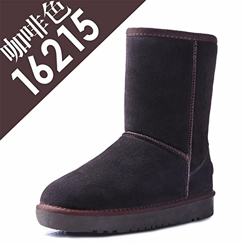 scarpe Leisure skid Snow fashion con pelle caldo anti A lady in cashmere Winter Boots FLYRCX 4AR5wvPx5q