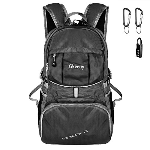 51JKrgfDU8L. SS500  - Gkeeny 35L Backpack, Lightweight Rucksack Foldable Hiking Daypack Packable Travel Day Backpack Bag for Unisex and Kids…