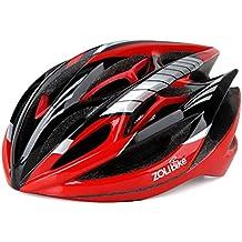 255g Peso ultra ligero - casco especializado de la bici, casco de ciclo ajustable del deporte Cascos de la bici de la bicicleta para el camino y el Biking de la montaña, motocicleta para los hombres y las mujeres adultos, juventud - competir, protección de la seguridad Muchachos y muchachas adolescentes - cómodo, ligero, respirable ( Color : Red )