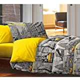 Oferta Color colcha de Piquet individual + completo cama individual New York City Estatua Libertad producto italiano